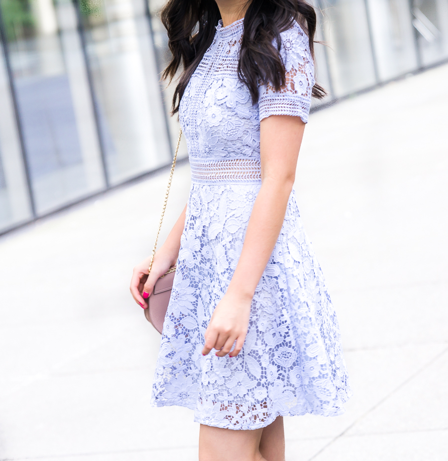 Chicwish floral land crochet dress, lace dress, summer outfit, petite blog, Seattle fashion blogger