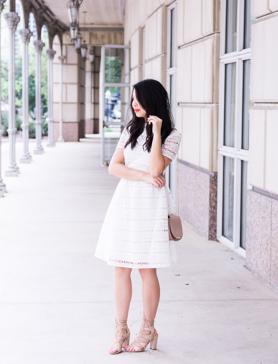 Is rewardStyle the Conference worth going? Little white dress, Rachel Parcell dress review, petite fashion blog