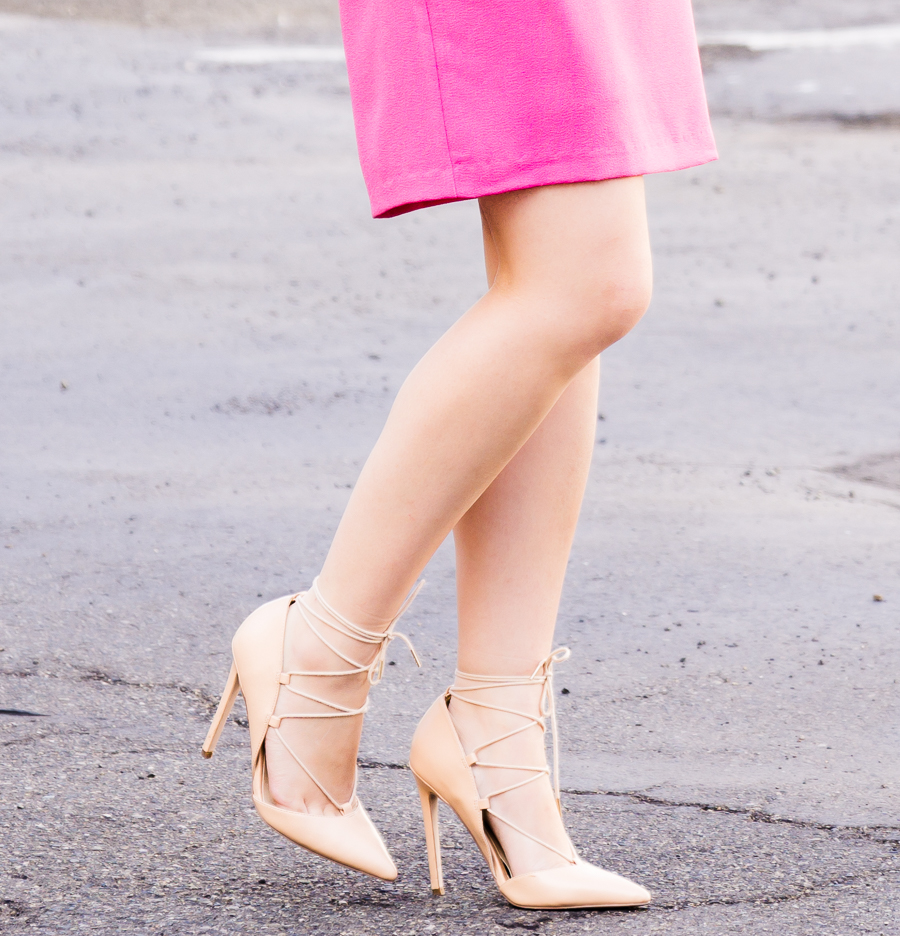Lace up pumps, Seattle fashion blogger, petite fashion blog