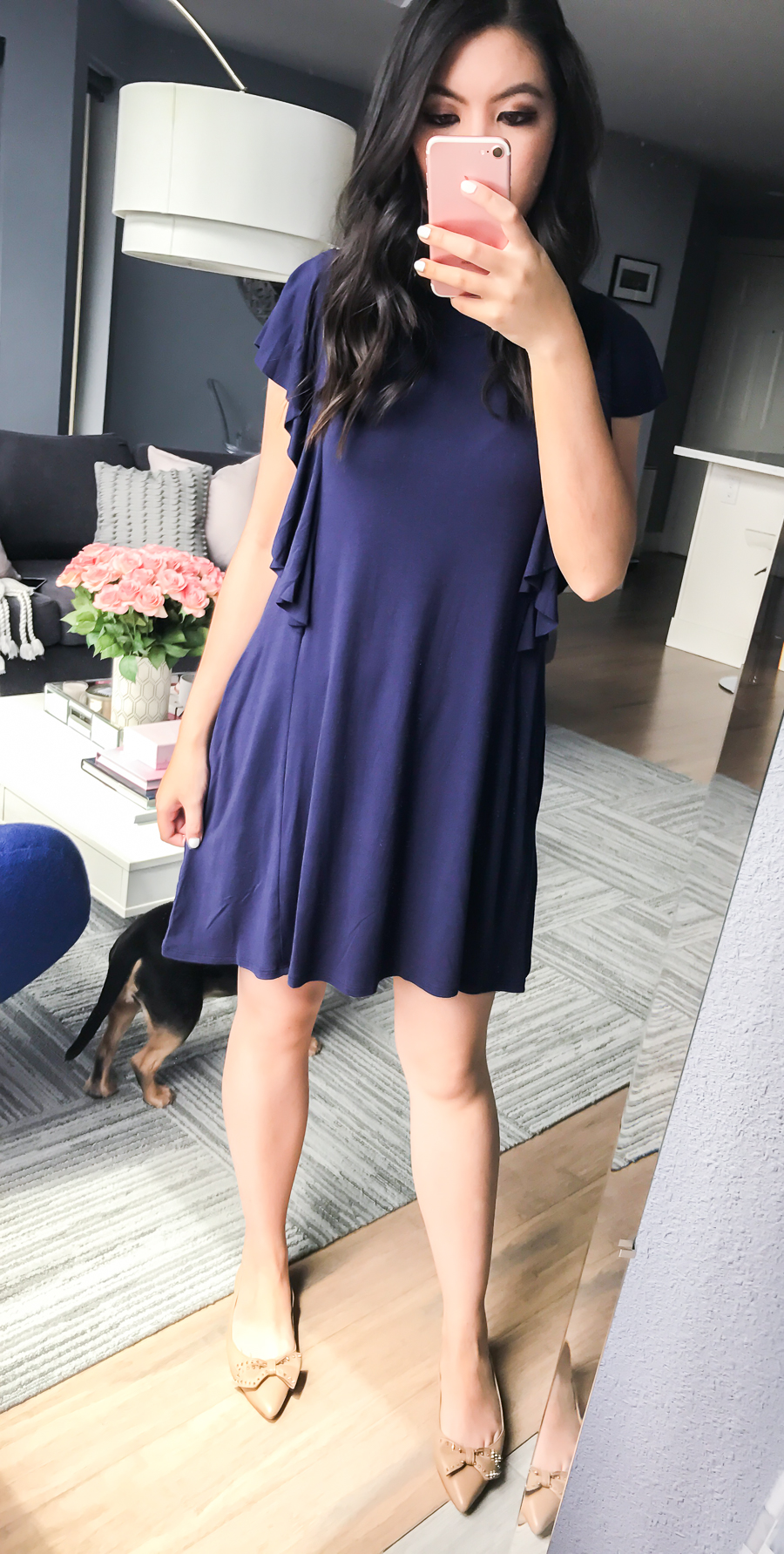 Nordstrom Anniversary Sale 2017 Review, Seattle fashion blogger, petite blog, ruffle sleeve dress