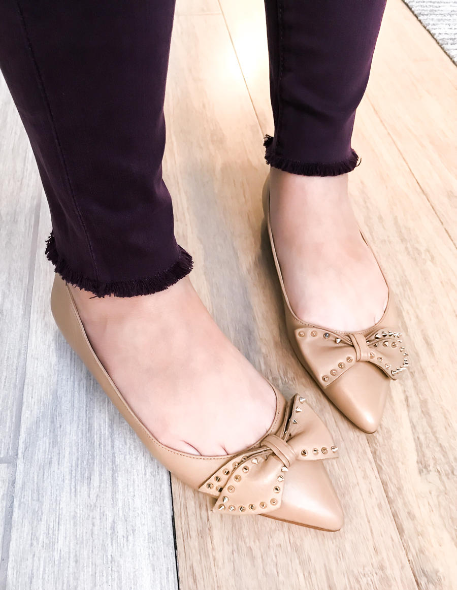 Nordstrom Anniversary Sale 2017 Review, Seattle fashion blogger, petite blog, Sam Edelman bow flats