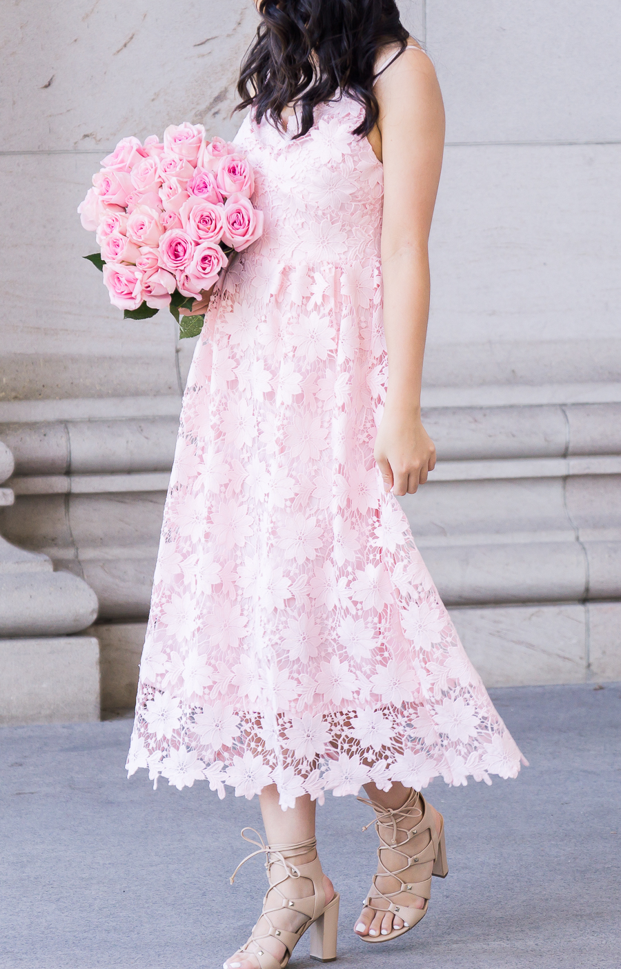 Pink Lace Dress | Just A Tina Bit