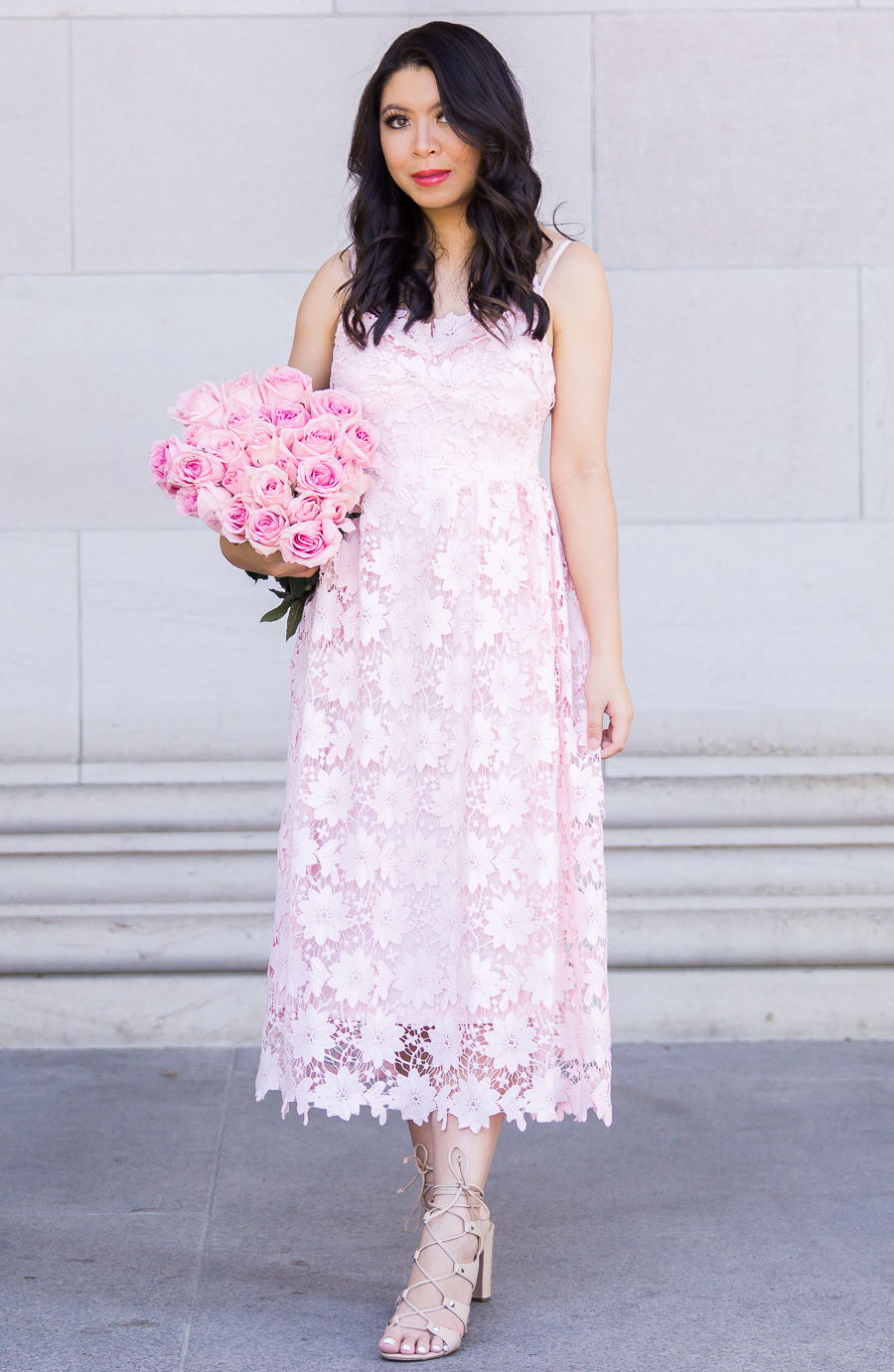 Pink Lace Dress | Just A Tina Bit