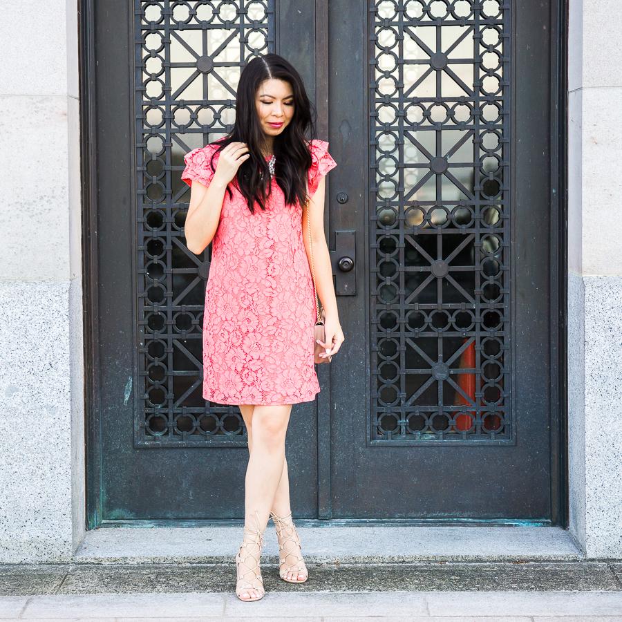 Lace shift dress, Seattle fashion blogger
