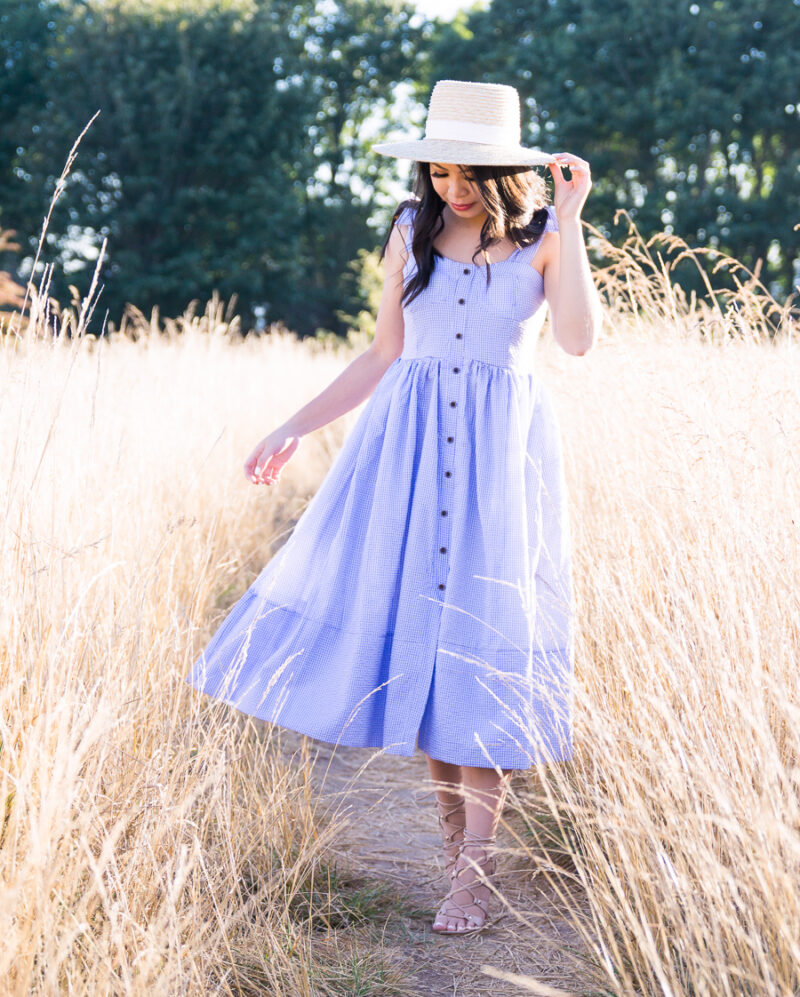 Blue Gingham Dress at Discovery Park