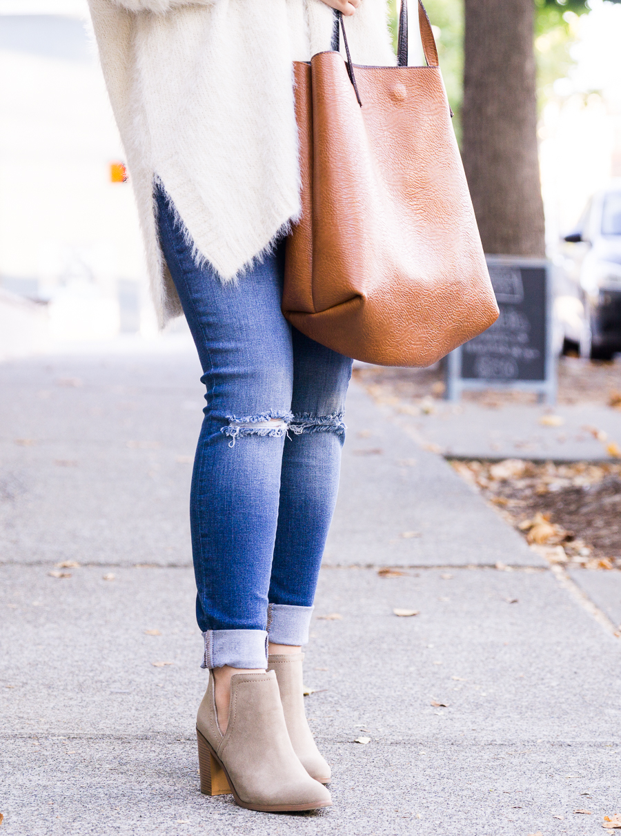 Cutout booties, casual fall outfit, fall fashion, Seattle fashion blogger