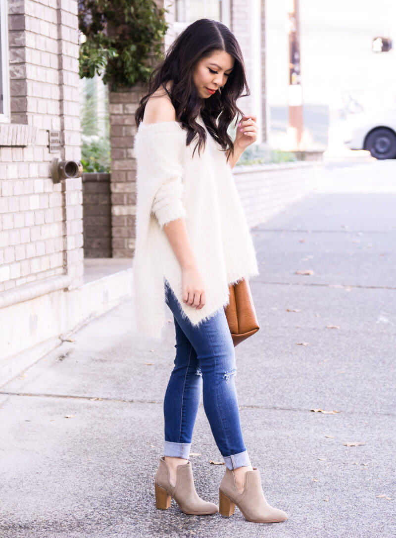 All The Fall Feels in the Coziest Fuzzy Sweater