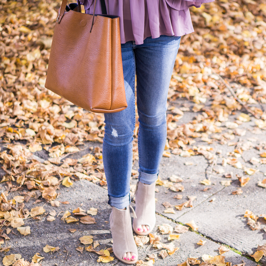 TOMs booties, fall foliage, Seattle fashion blogger