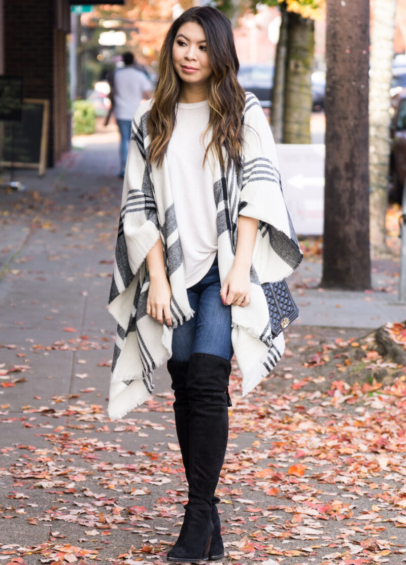 10 Stylish Ponchos for Fall Including My Go-To Plaid Poncho