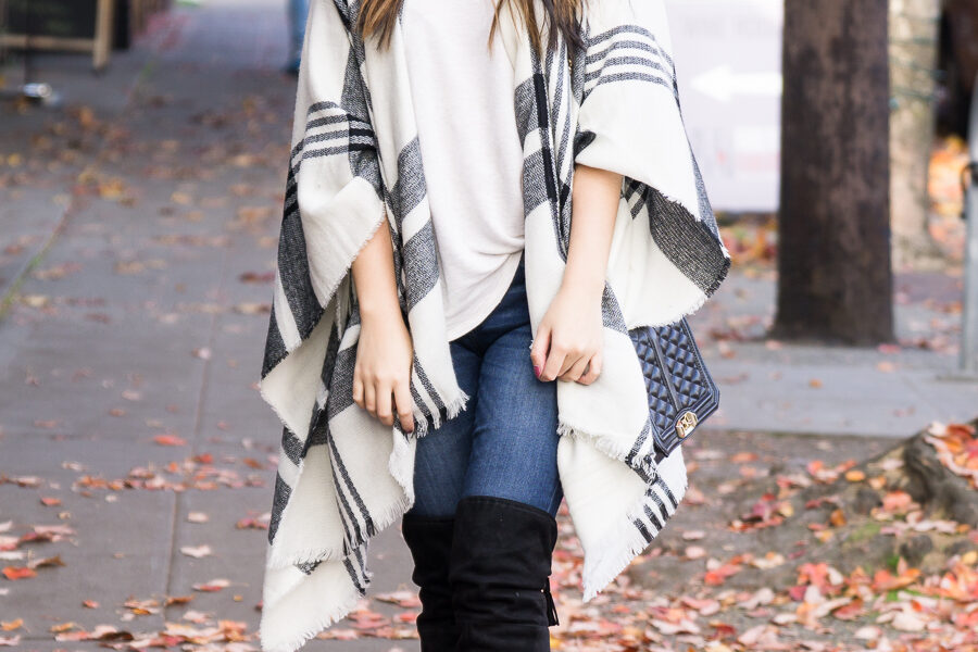 3efcad4b9122 10 Stylish Ponchos for Fall Including My Go-To Plaid Poncho