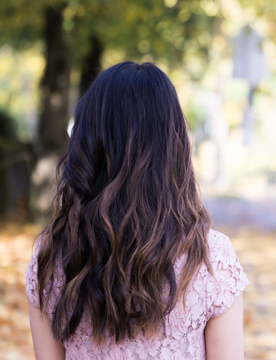 Asian hair bayalage soft curls fashion blogger