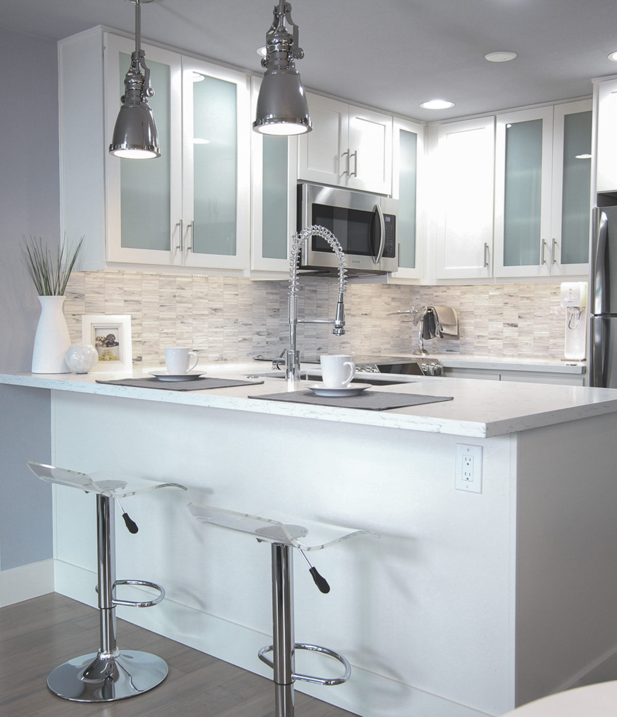 White Kitchen Remodels Before And After: Our Small Condo Remodel Reveal