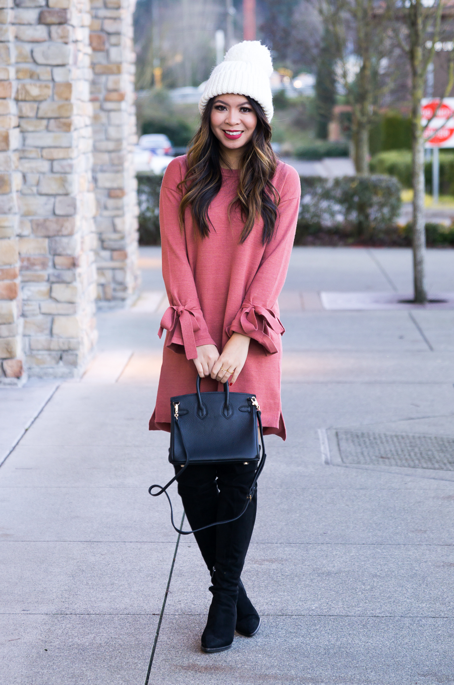 80eb552bdc3 How to wear over the knee boots with dress