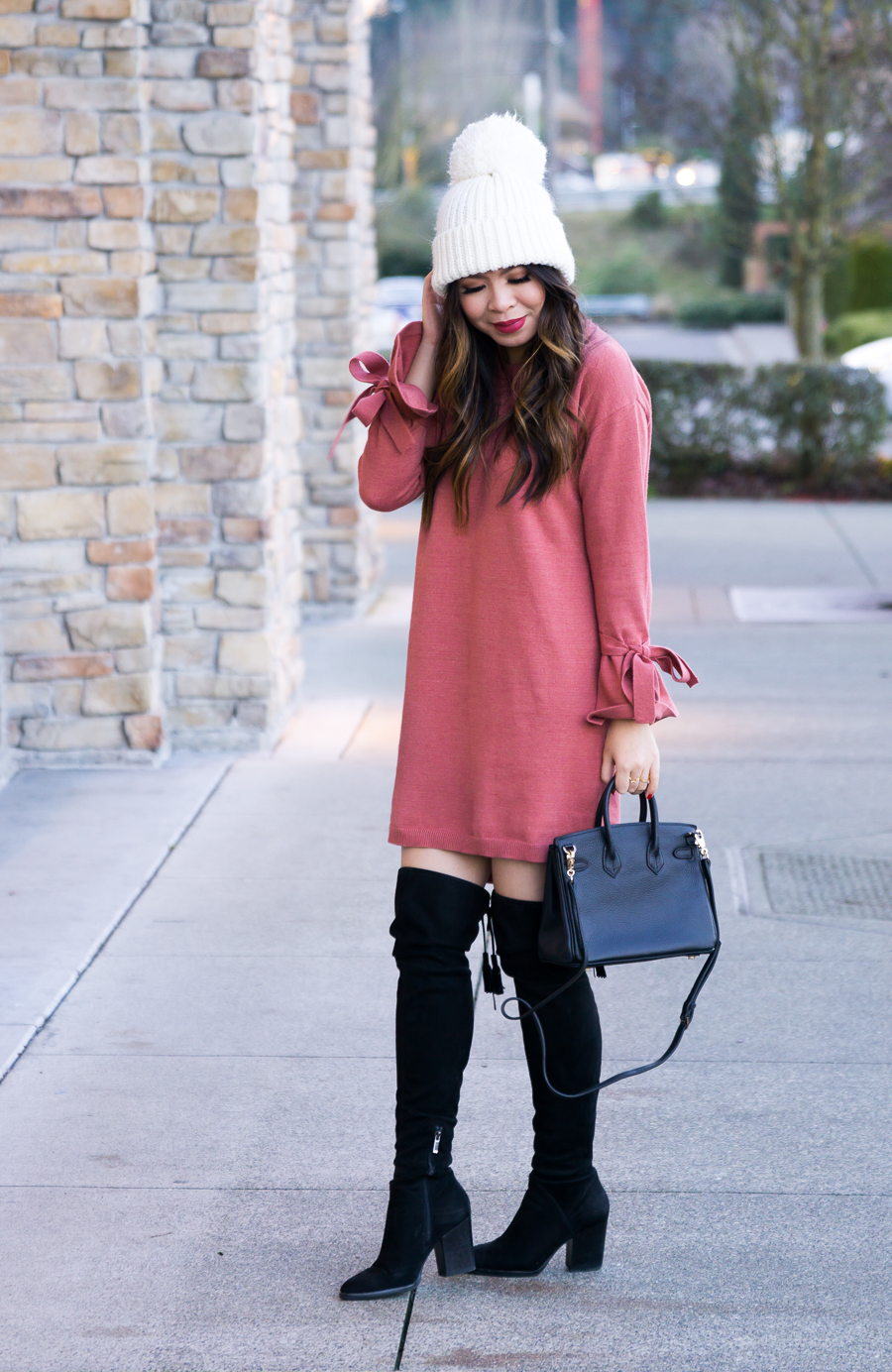 9bf44236bd5 How to wear over the knee boots with dress