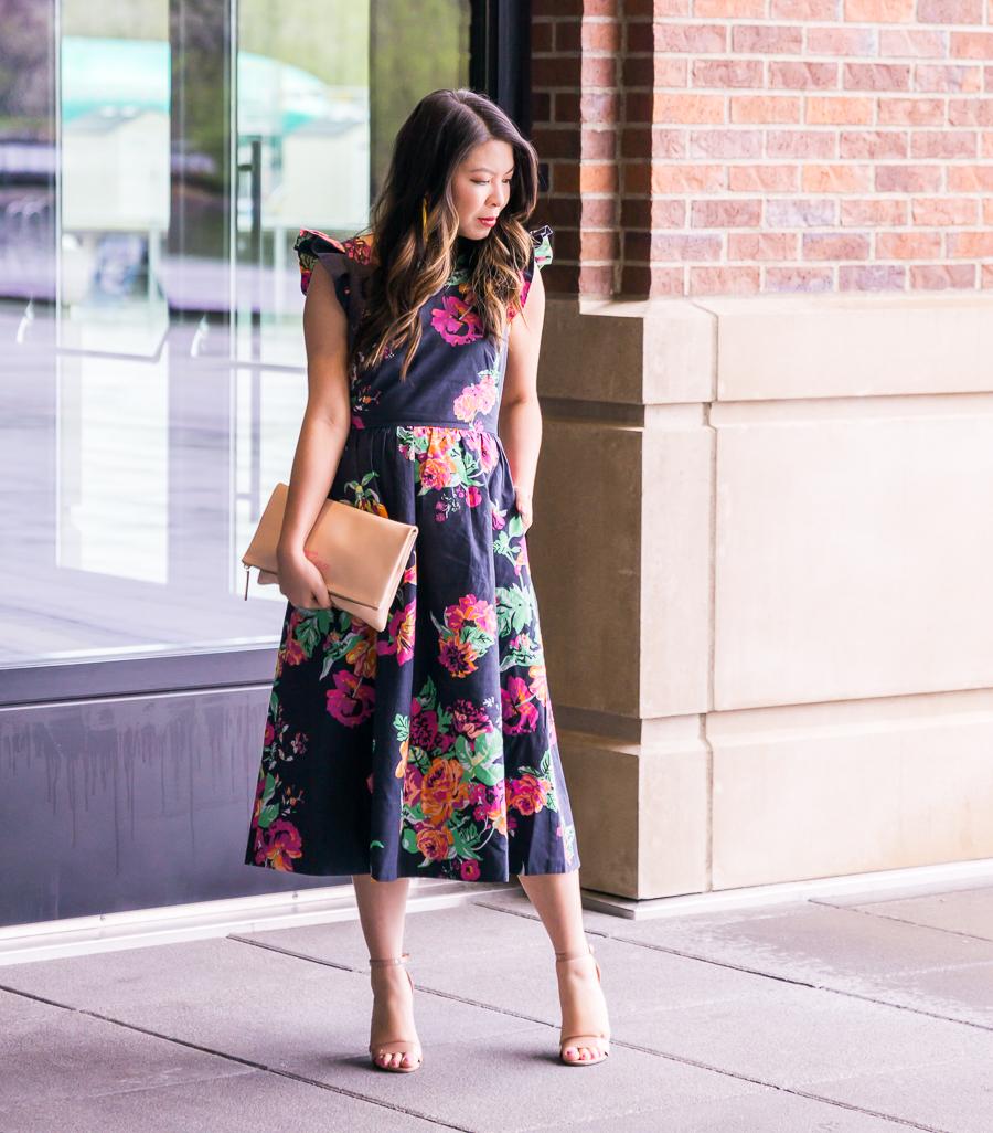 Dark Floral Dress | Just A Tina Bit