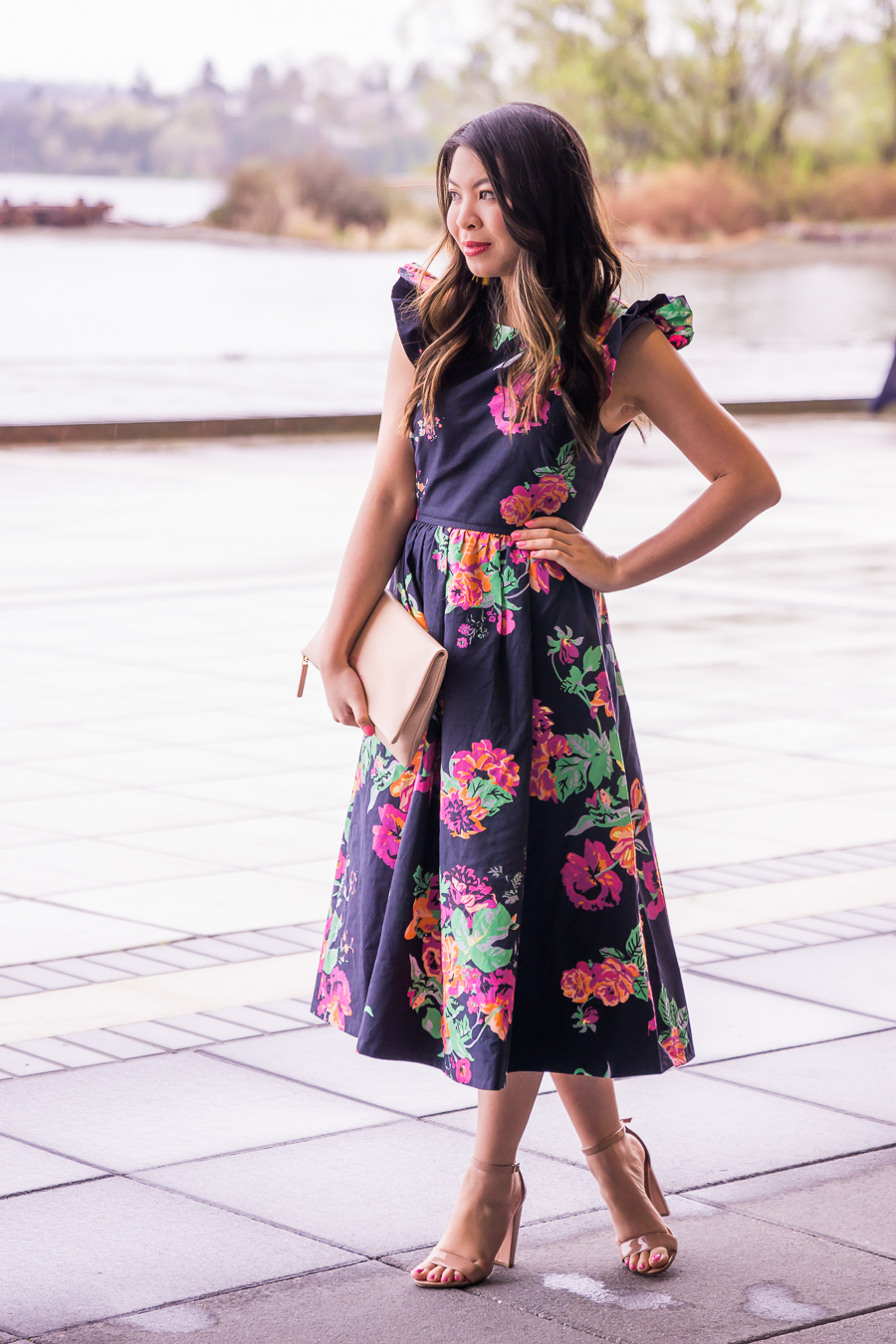 Dark Floral Dress Just A Tina Bit