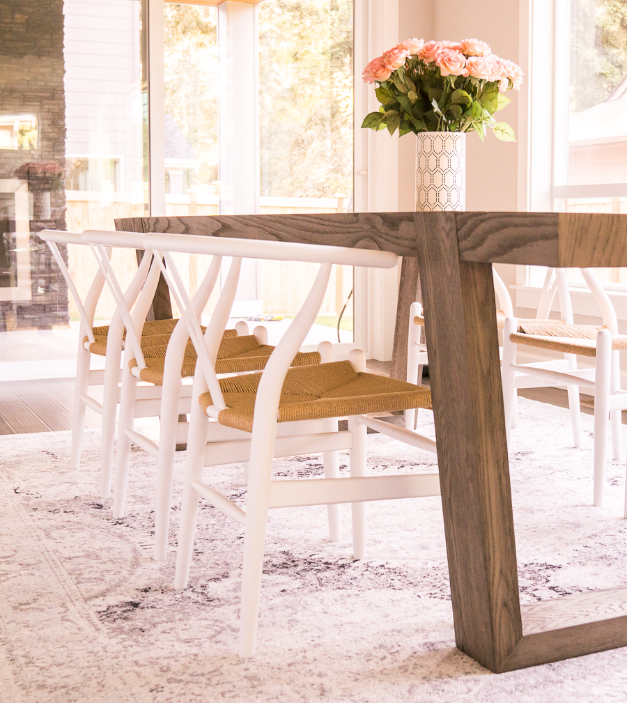 Dining room with Restoration Hardware dining table Antoccino ...