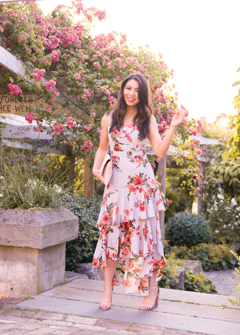 738e9118d0f I Wore This Tiered Dress to a Beautiful San Juan Islands Wedding ...