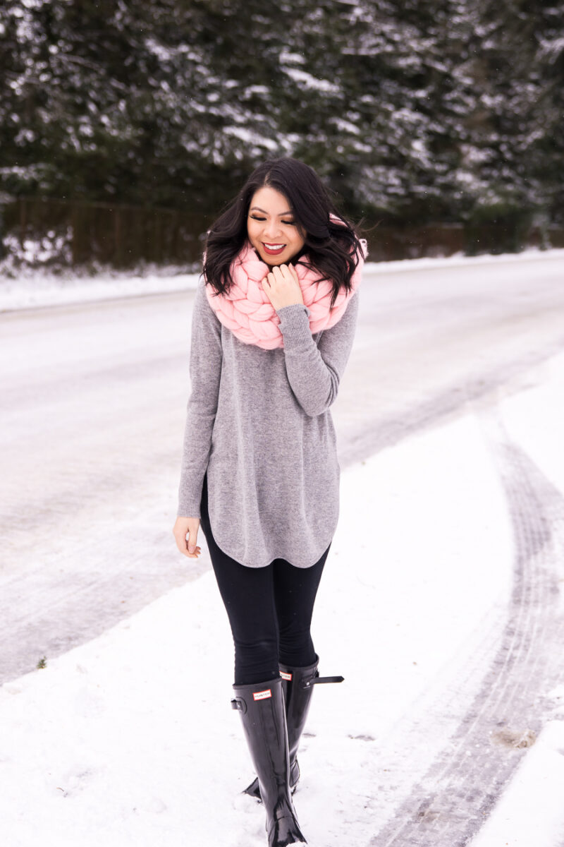 Easy and Cute Snow Outfits with Hunter Boots