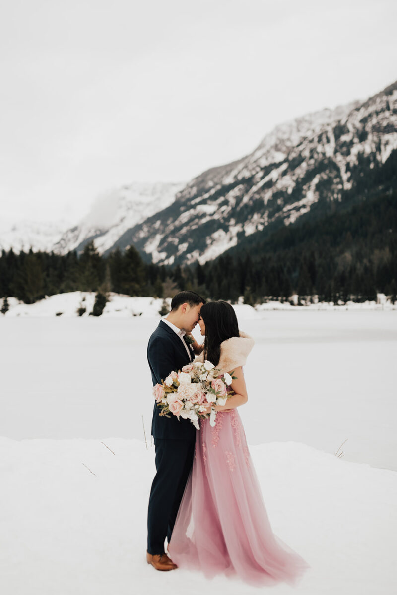 1f96e10aa8 Winter Formal Engagement Photos at Gold Creek Pond
