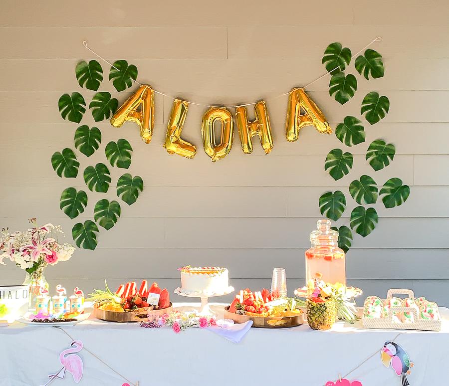 Tropical Hawaiian Theme Bridal Shower Party Bridal Shower